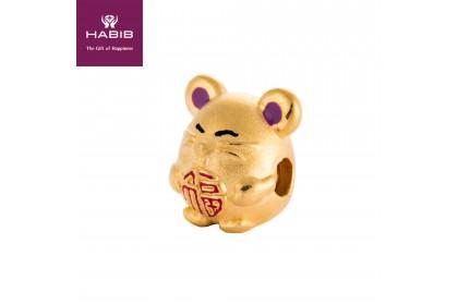 Blessing Mini Rat 999/24K Gold Charm (0.88G)