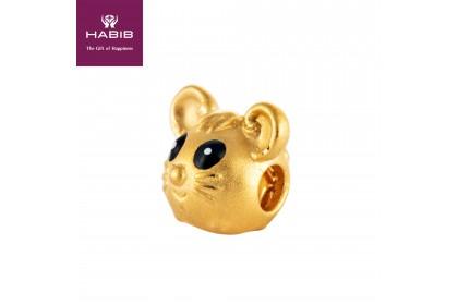 Wisdom Mini Rat 999/24K Gold Charm (0.72G)