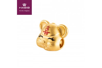 Delight Mini Rat 999/24K Gold Charm (0.76G)