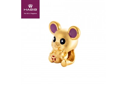 Beautiful Mini Rat 999/24K Gold Charm (0.81G)