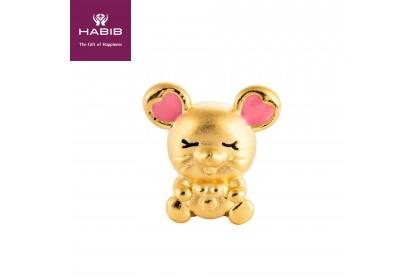 Love Mini Rat 999/24K Gold Charm (0.91G)
