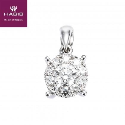 Polaris Valeria Diamond Pendant in 750/18K White Gold 34985