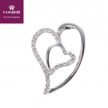 Della Diamond Pendant in 750/18K White Gold 34512