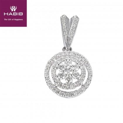 Alberta Diamond Pendant in 750/18K White Gold 24992(P)