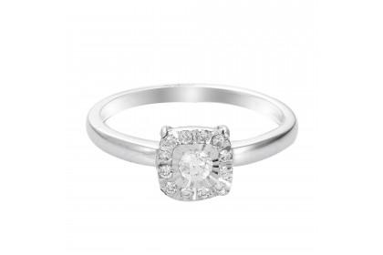 Illusion White Gold Diamond Ring 24818(WG)