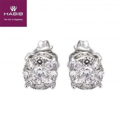 Polaris Tracey Diamond Earrings in 750/18K White Gold 45490