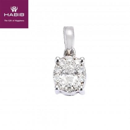 Polaris Tracy Diamond Pendant in 750/18K White Gold 35005
