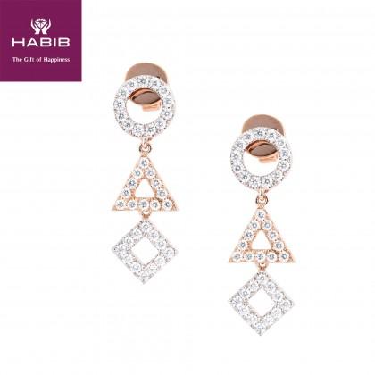 Beatrice Diamond Earrings in 750/18K Rose Gold 45570