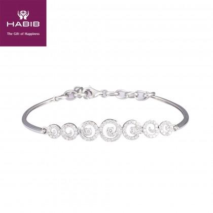 Ayla Diamond Bracelet in 750/18K White Gold 67858
