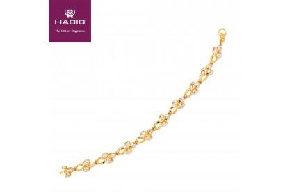 HABIB Adalene Gold Bracelet, 916 Gold (12.9G)