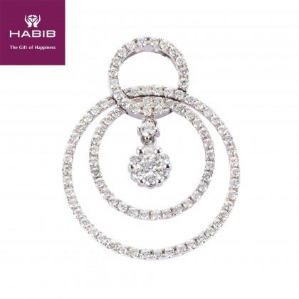 Adore Myrtle Diamond Pendant in 750/18K White Gold 35145