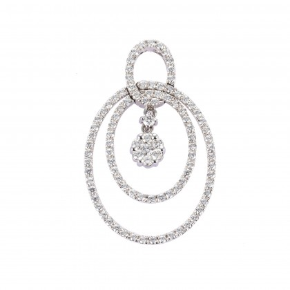 Adore Mumosa Diamond Pendant in 750/18K White Gold 35144