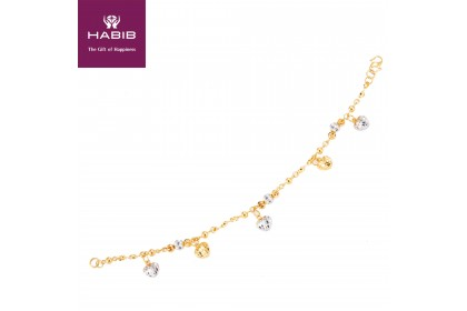 HABIB Aira Gold Bracelet, 916 Gold (7.77G)