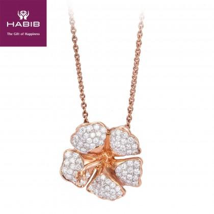 Diannova Diamond Necklace in 750/18K Rose Gold 55560