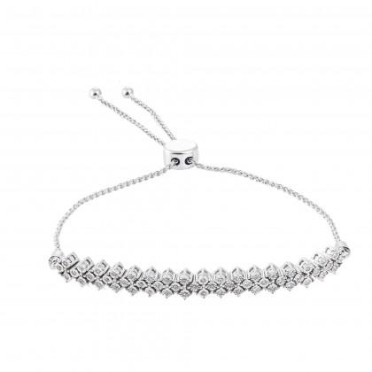 Begonia Diamond Bolo Bracelet 67885 in 375/9K White Gold 67885
