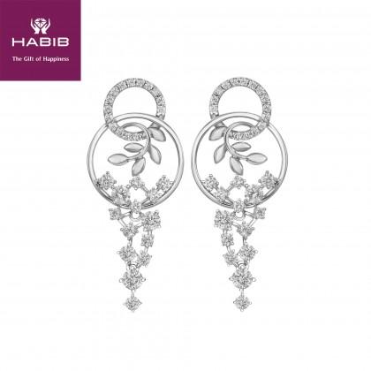 Consort Ban White Gold Diamond Earrings in 750/18K White Gold 25078(E)-WG