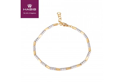 HABIB Abigil White and Yellow Gold Bracelet, 916 Gold (6.89G)