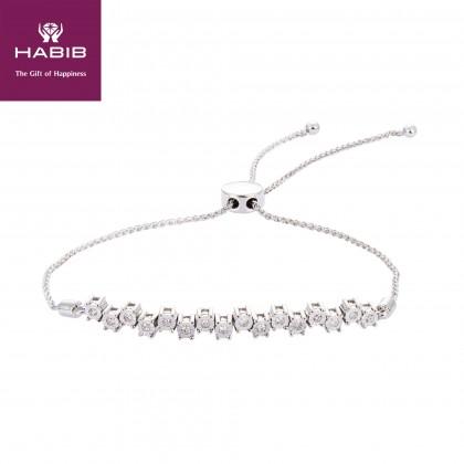 Alecta Diamond Bolo Bracelet in 375/9K White Gold 67936