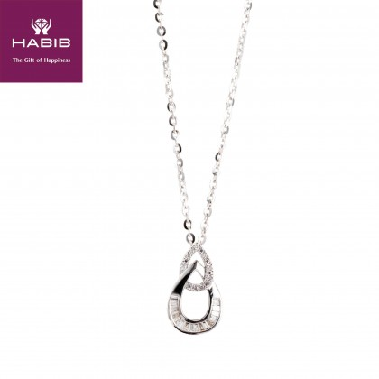 Letty Diamond Necklace in 375/9K White Gold  55607