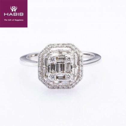 Attenuatis Diamond Ring in 375/9K White Gold 25218