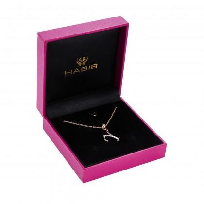 Corsiva-Y Alphabet Diamond Necklace in 375/9K Rose Gold 55570(Y)
