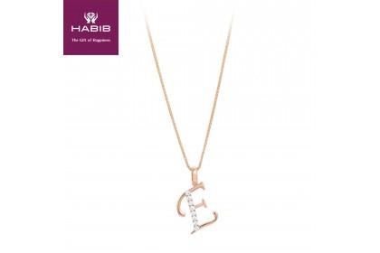 Corsiva-E Alphabet Diamond Necklace