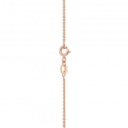 Corsiva-P Alphabet Diamond Necklace 375/9K in Rose Gold 55570(P)