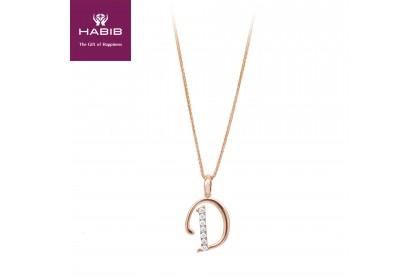 HABIB Corsiva-D Alphabet Diamond Necklace