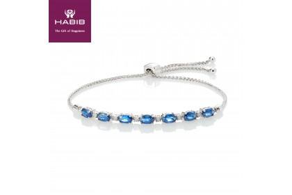 HABIB Blue Sapphire Bolo Bracelet