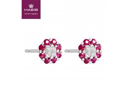 Augustus Ruby Diamond Earring