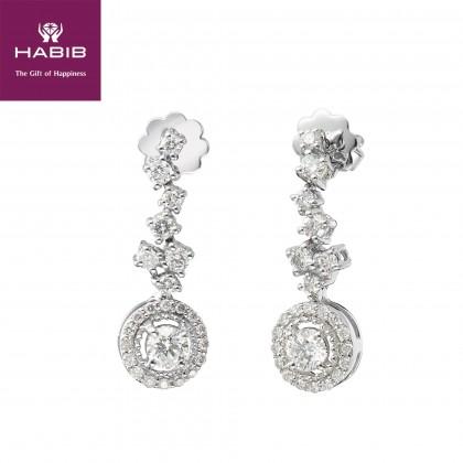 Bulibu Diamond Earrings in 750/18K White Gold 45555(E)