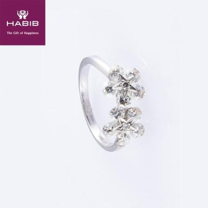 Entrelace Diamond Ring in 750/18K White Gold 224735078D