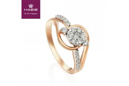 Ah-Moe Diamond Ring in 375/9K White and Rose Gold 25081