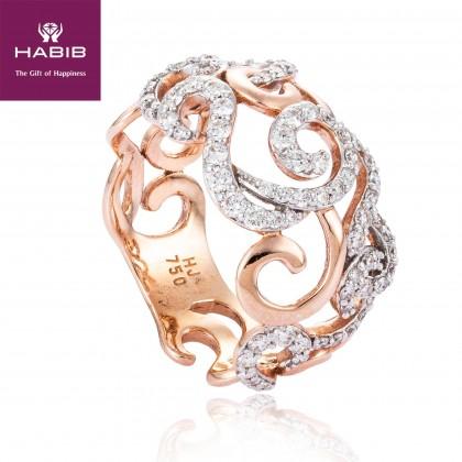 Contessa Diamond Ring in 750/18K Rose Gold 25048