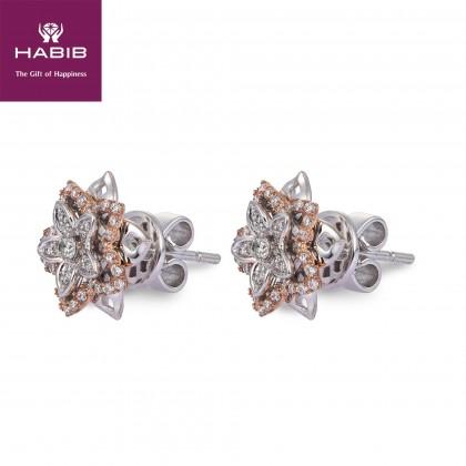 Anne Diamond Earrings in 750/18K White and Rose Gold 25046(E)