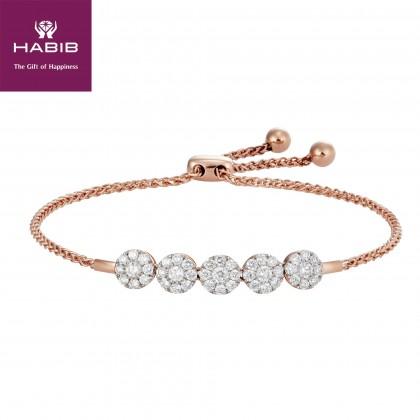 Polaris Cluster Set Bolo Diamond Bracelet in 750/18K Rose Gold 67817