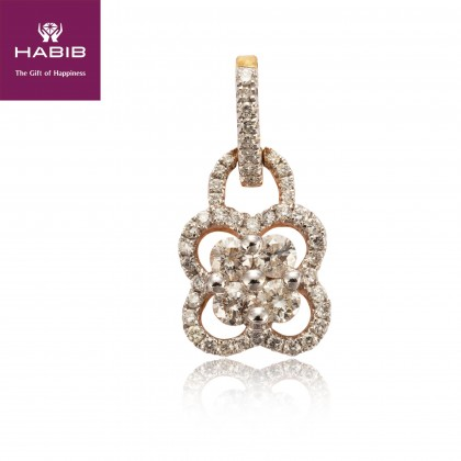 Cheng-Ching Diamond Pendant in 750/18K Yellow Gold UP125