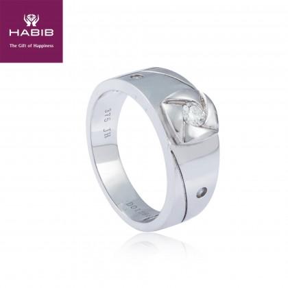 Changpi Diamond Men's Ring in 375/9K White Gold A0116