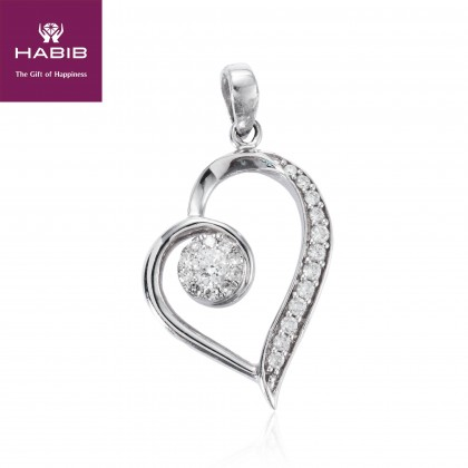 Polaris Amor En La Niebla Diamond Pendant in 750/18K White Gold 35006