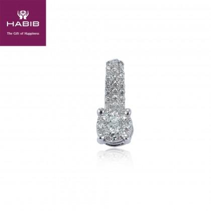 Polaris Ngami Diamond Pendant in 750/18K White Gold 35056