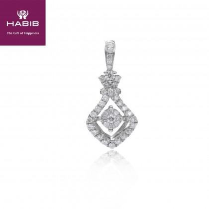 Alaotra Diamond Pendant in 750/18K White Gold 35113
