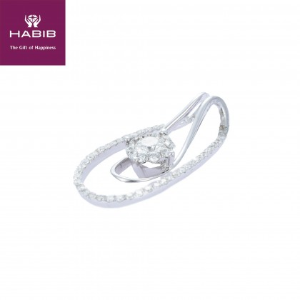 Polaris Kivu Diamond Pendant in 750/18K White Gold 34984