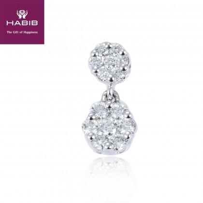 Adore Rose Eliot Diamond Pendant in 750/18K White Gold 34148