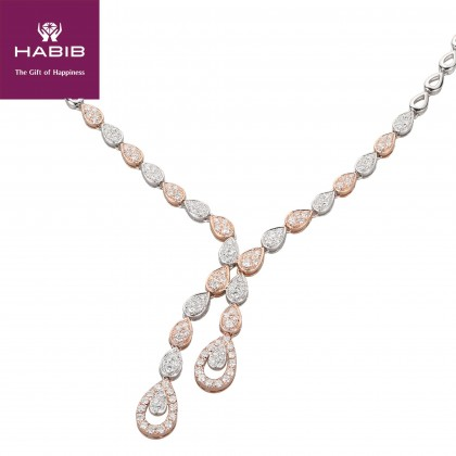 Ambhana Diamond Necklace in 750/18K White and Rose Gold 24936(N)