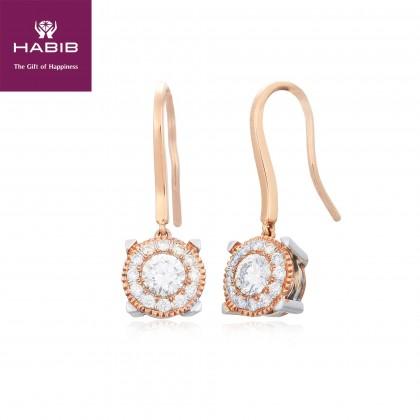 Begonta Diamond Earrings in 750/18K White and Rose Gold 45579(E)