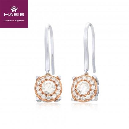 Acacia Diamond Earrings in 750/18K White and Rose Gold 45577(E)