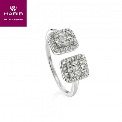 Fire on Ice Zuhura Diamond Ring in 375/9K white gold 25086