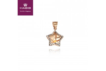 HABIB 5-Ten I Rose and White Gold Pendant 18K Gold (0.73G)