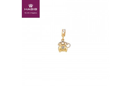 Alaxander Graham Bell White and Yellow Gold Charm (2.62G)