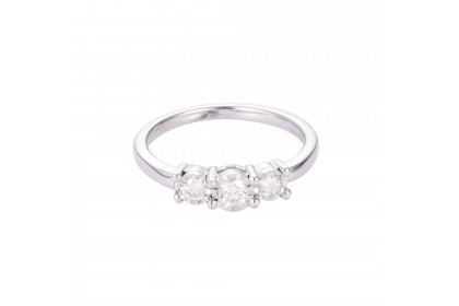 Trilogy White Gold Diamond Ring